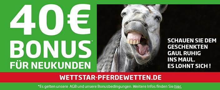 Wettstar Pferdewetten Bonus